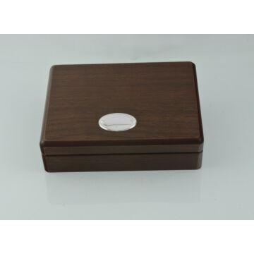 Ezüst-dísztárgy - Ezüst laminált fa díszdoboz (13x17 cm)