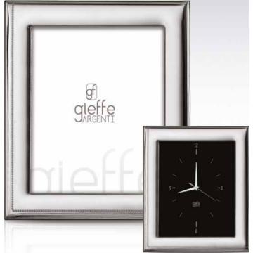Ezüst fényképkeret - sima, gyöngy mintával (10x15cm)
