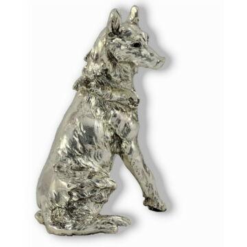 Ezüst állatfigura - Kutya - Farkaskutya