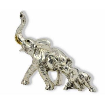Ezüst állatfigura - Elefánt - család