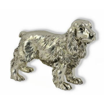 Ezüst állatfigura - Kutya - Cocker spániel