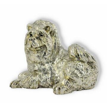 Ezüst állatfigura - Kutya - Csau csau