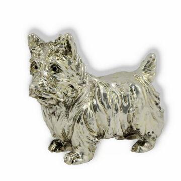 Ezüst állatfigura - Kutya - Westie