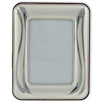 Ezüst fényképkeret - hullámvonalas mintával (9x13)