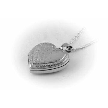 Ezüst ékszer   - Sterling ezüst nyitható szív medál, lánccal