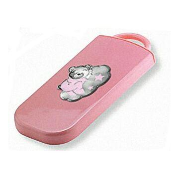 Ezüst-dísztárgy - Teáskanál és villa rózsaszín nyéllel, macis