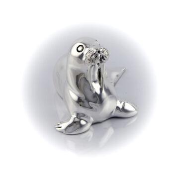 Ezüst állatfigura - ezüst laminált fóka