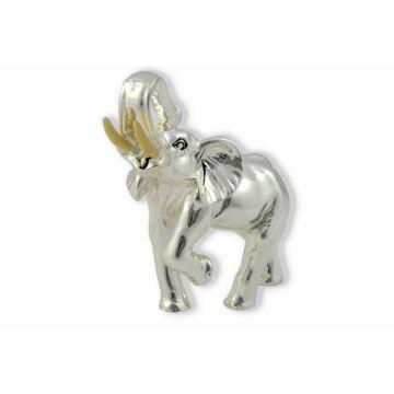 Ezüst állatfigura - ezüsttel laminált elefánt (12cm)
