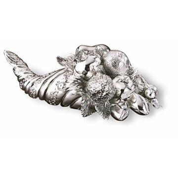Ezüst dísztárgy - Ezüsttel laminált bőségszaru (gyümölcsös)