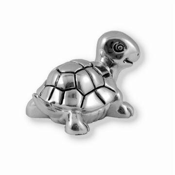 Ezüst állatfigura - ezüst laminált teknősbéka