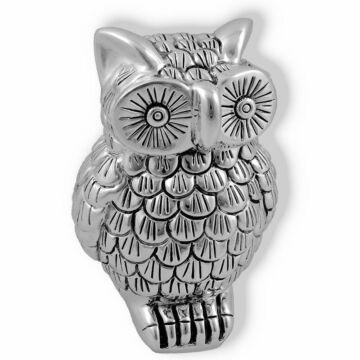 Ezüst állatfigura - ezüsttel laminált bagoly (9cm)
