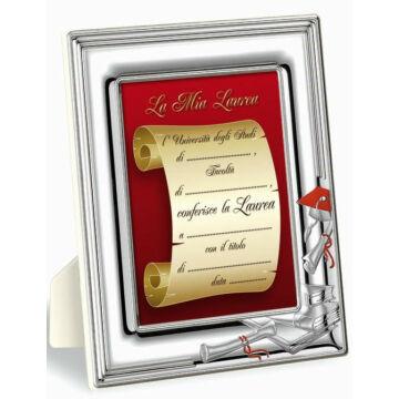 Ezüst fényképkeret - diplomaosztóra, ballagásra (10x15cm)