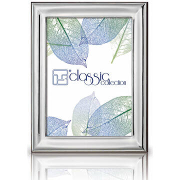 Ezüst fényképkeret - sima, fényes (18x24cm)