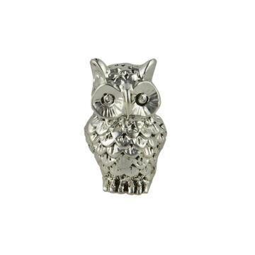 Ezüst állatfigura - ezüsttel laminált bagoly (5cm)