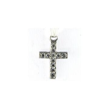Ezüst ékszer  - Sterling ezüst kereszt medál cirkónia kővel