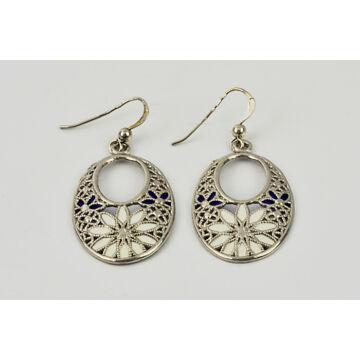 Ezüst ékszer  - Sterling ezüst filigrán stílusú fülbevaló