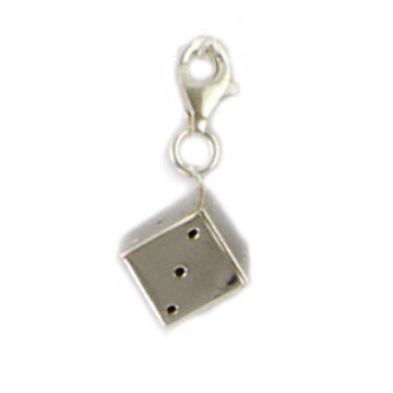 Ezüst ékszer - Sterling ezüst dobókocka medál