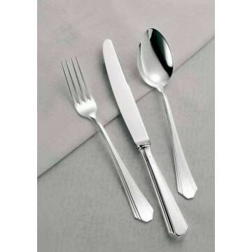 Sterling ezüst evőeszköz, Art Deco stílusú