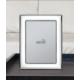 Ezüst fényképkeret - klasszikus vonalú, tükörrel (18x24 cm)