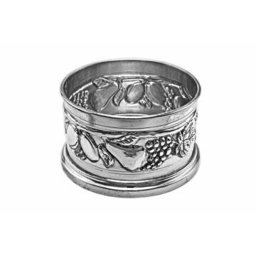Ezüst dísztárgy - sterling ezüst borosüveg alátét