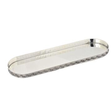 Ezüst dísztárgy - Sterling ezüst  ovális tolltartó - görög mintás