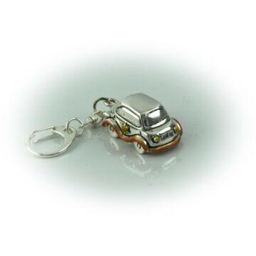 Ezüst-dísztárgy - Ezüst laminált autó kulcstartóval