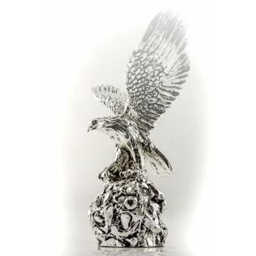 Ezüst állatfigura - ezüsttel laminált sas (28 cm)