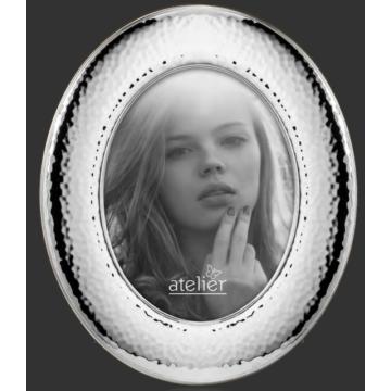 Ezüst fényképkeret - ovális (13x18 cm)