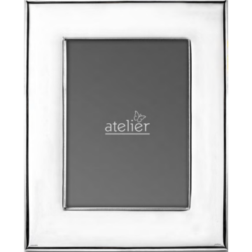 Ezüst fényképkeret - sima, széles (9x13 cm)