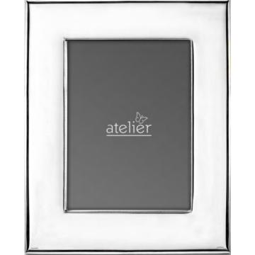 Ezüst fényképkeret - sima, széles (13x18 cm)