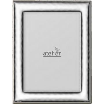 Ezüst fényképkeret - hullámos felülettel (13x18 cm)