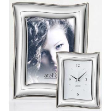 Ezüst fényképkeret - ívelt oldallal (13x18 cm)