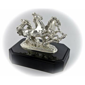 Ezüst állatfigura - Ezüst paripák