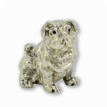 Ezüst állatfigura - Kutya - Angol bulldog