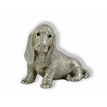 Ezüst állatfigura - Kutya - Basset hound