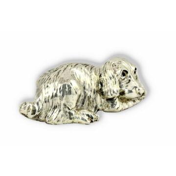 Ezüst állatfigura - Kutya - Kis cocker spániel