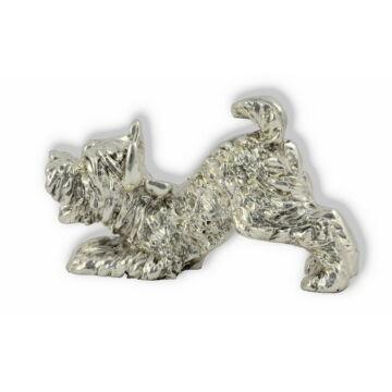 Ezüst állatfigura - Kutya - játékos