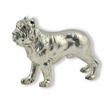 Ezüst állatfigura - Kutya - Nápolyi masztiff