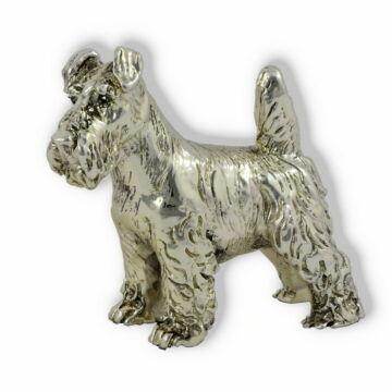 Ezüst állatfigura - Kutya - Schnauzer