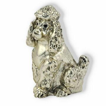 Ezüst állatfigura - Kutya - Uszkár