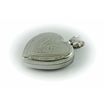 Ezüst ékszer   - Sterling ezüst nyitható mintás szív medál