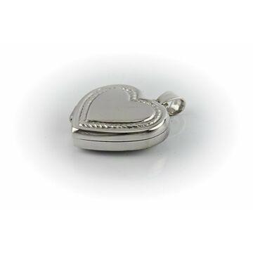 Ezüst ékszer   - Sterling ezüst nyitható szív medál