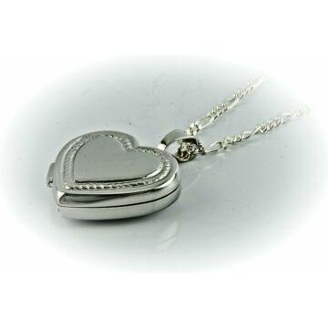 Ezüst ékszer   - Sterling ezüst nyitható szív medál lánccal