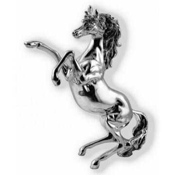 Ezüst állatfigura - ezüst laminált ló (24 cm)