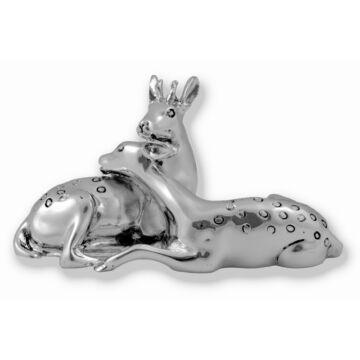 Ezüst állatfigura - ezüst őzek