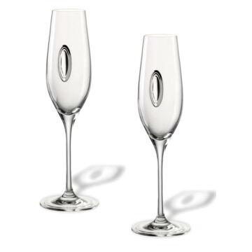 Dekoratív pezsgőspohár pár, 2db