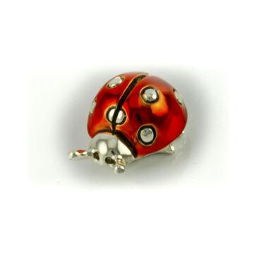 Ezüst-állatfigura - hétpöttyös ezüst katicabogár