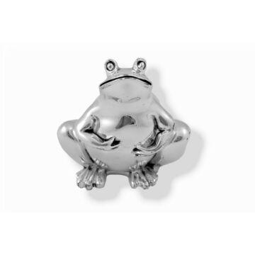 Ezüst állatfigura - ezüsttel laminált béka (7cm)