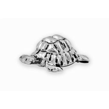 Ezüst állatfigura - ezüst laminált teknősbéka (közepes)