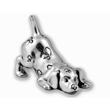 Ezüst állatfigura - ezüst laminált vadászkutya